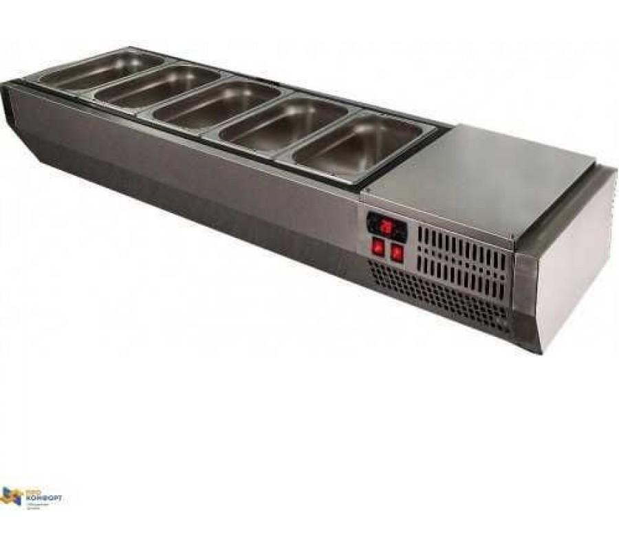 Холодильная витрина POLAIR VT3-G (с крышкой из нерж. стали)